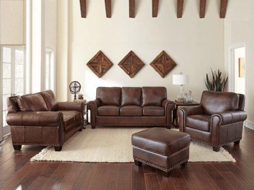 TROY Leather Sofa Set