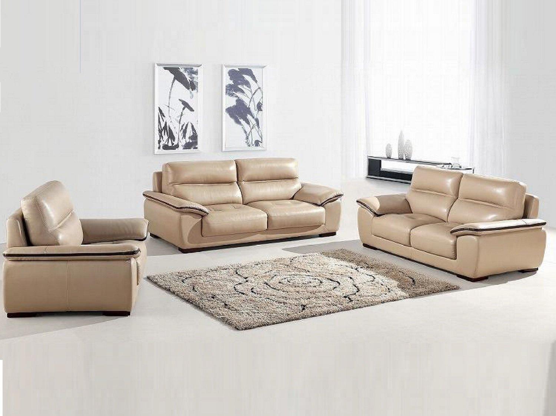 TUXEDO Leather Sofa Set