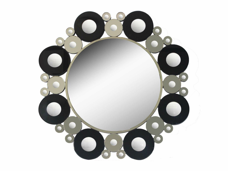 Decorative Circles Wall Mirror 40 in