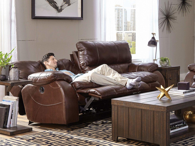 HOLLIS Reclining Sofa - Open