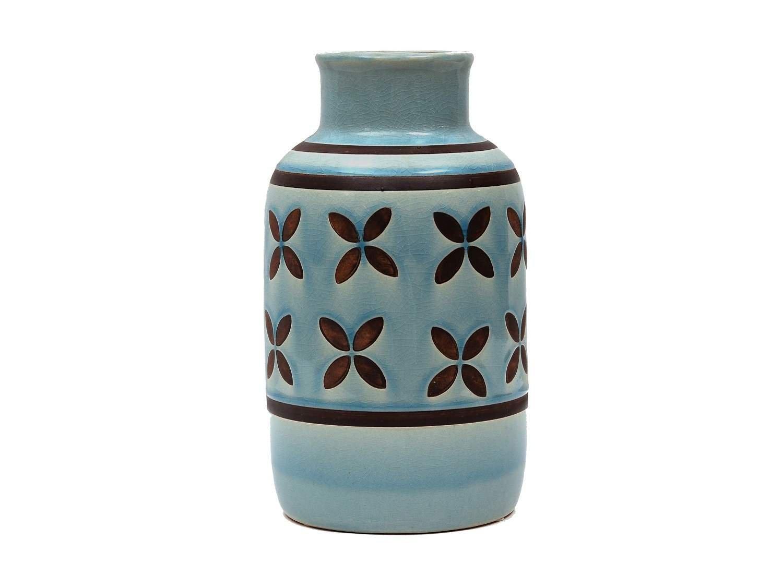 Aztec Ceramic Vase, 10 in.