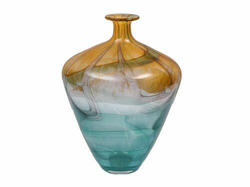 Brown Blown Glass Vase 13 in
