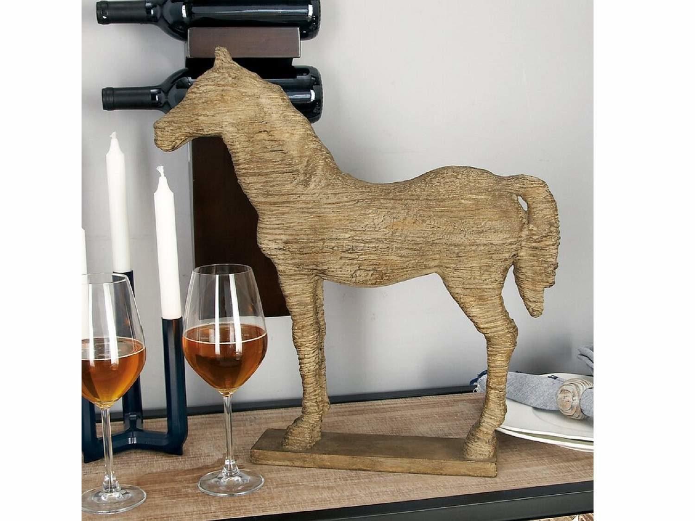 Wood Horse Sculpture