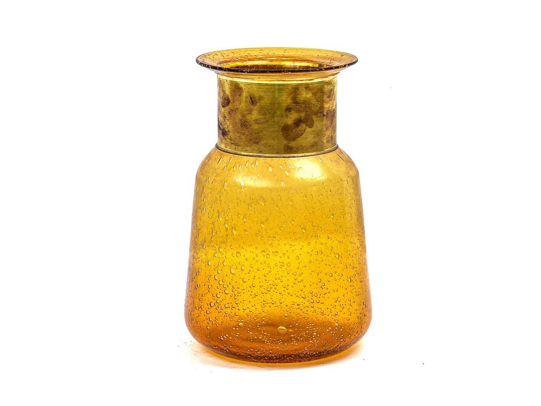 Amber Glass Vase