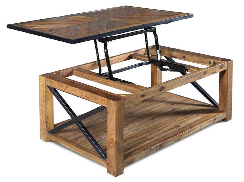 BENSON Lift-Top Coffee Table - Open