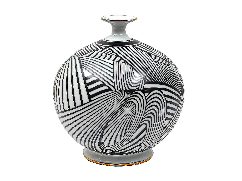 Black & White Porcelain Vase
