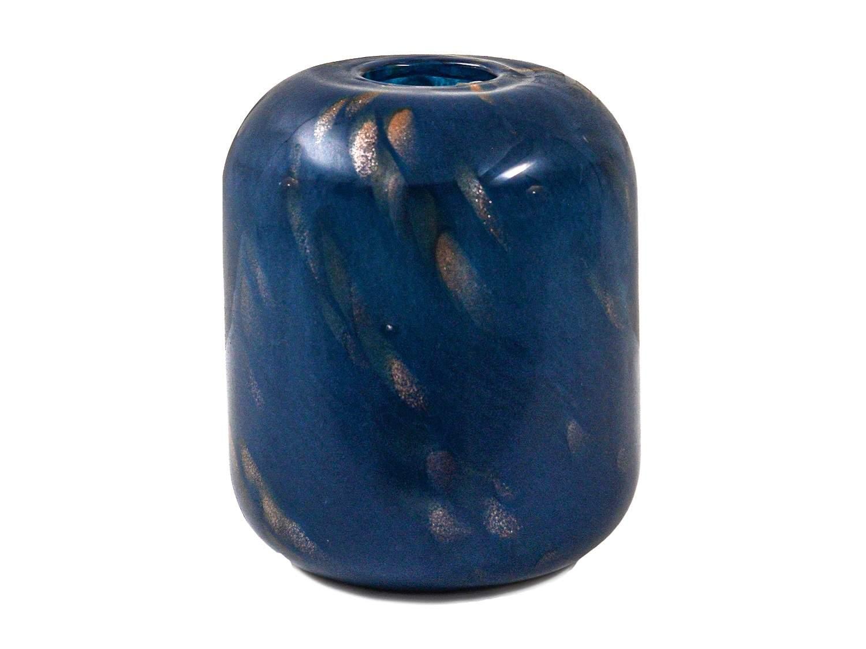 Blue & Gold Ceramic Vase