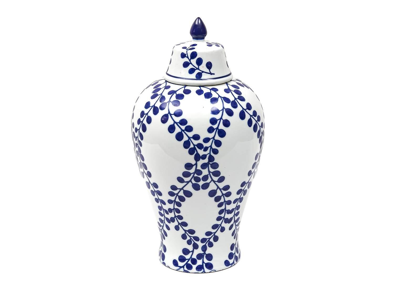 Blue Patterned Vase