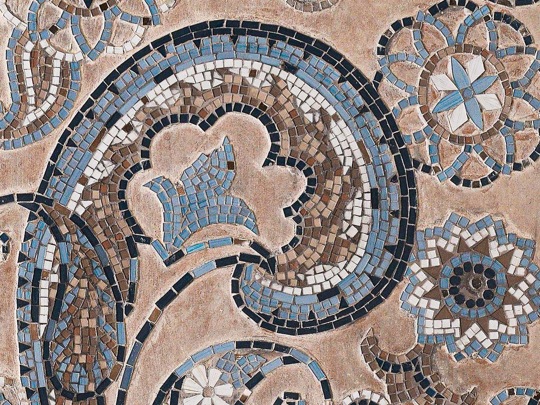 Blue Mosaic Paisley - Zoom