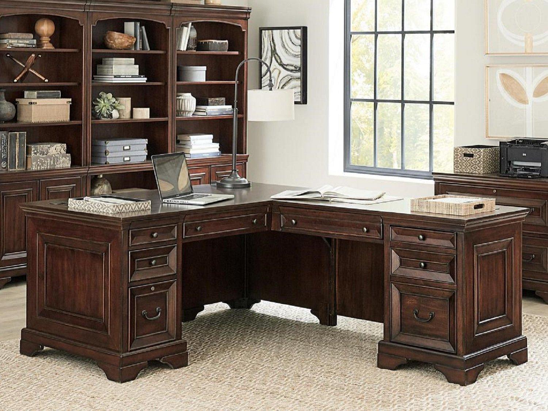 CLINTON L-Shaped Desk - Back
