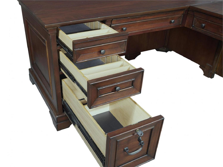 CLINTON L-Shaped Desk - Drawers