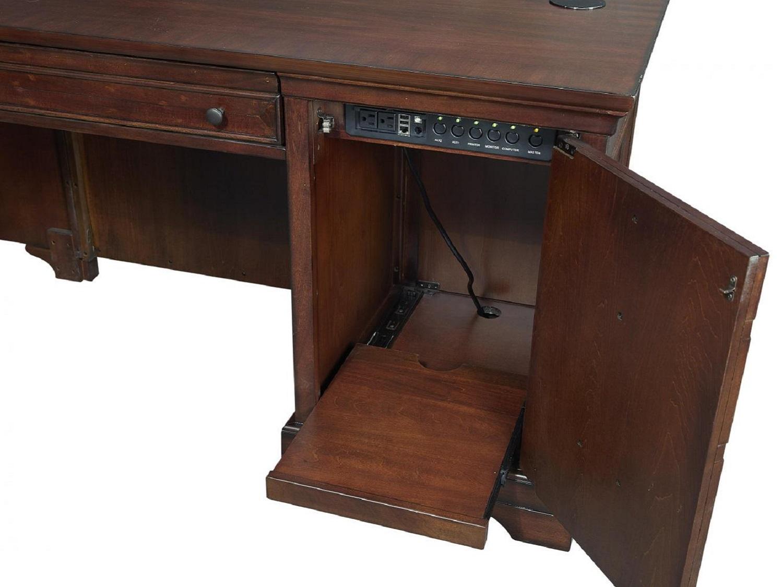 CLINTON L-Shaped Desk - Power Management