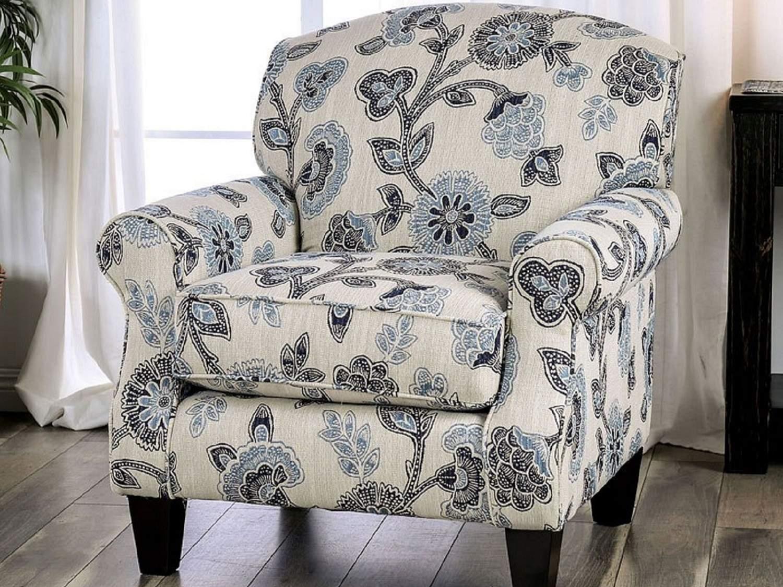 ELMORE Floral Accent Chair