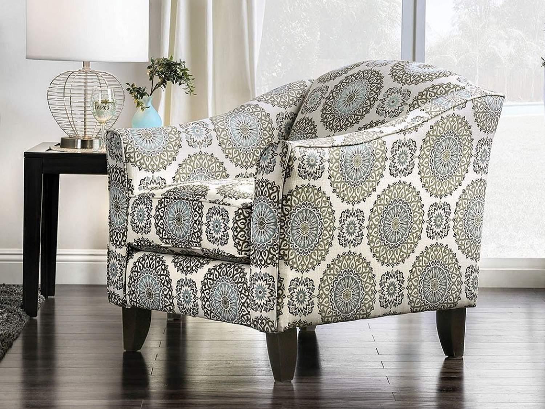 VERGAS Floral Accent Chair